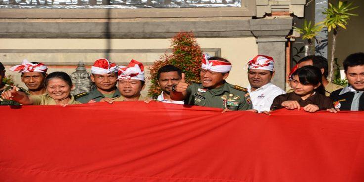 Korem 163/Wira Satya (WSA) beserta jajarannya dalam rangka memperingati HUT ke-71 Kemerdekaan RI menggelar program…
