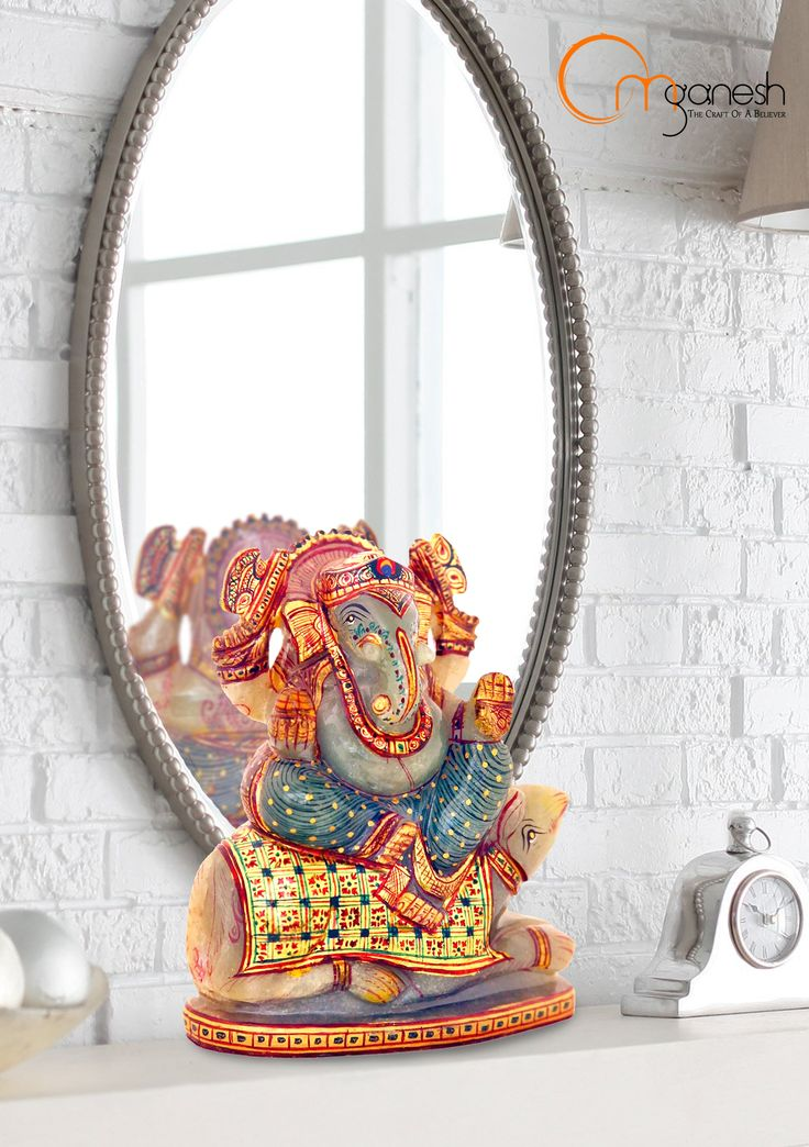 The radiating aura of Lord Ganesh magnifies into positive energy in the much loved corners of your home. #Radiating #Lord #Ganesha #Magnifies #Energy #Much #Loved #Corners #Home #Auspicious