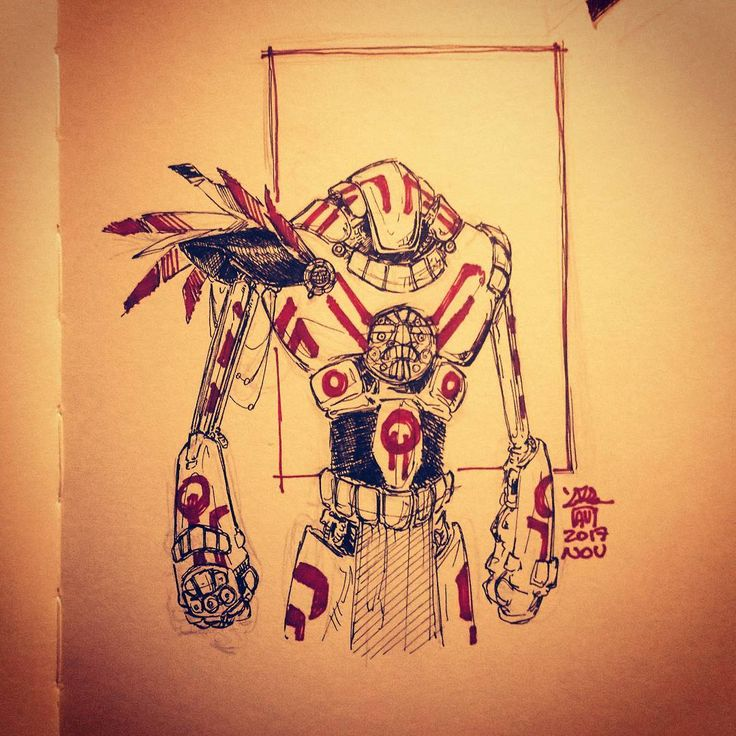 Robot warrior with some mesoamerican style (hope I wrote it correctly)  #robot #robotwarrior #scifi #scifiart #scifiillustration #instaart #fantascentific #drawing #drawingoftheday #art #artoftheday #artist #italianartist #maya #maya #aztec #tattoo #tribal #warrior #concept #conceptart #conceptrobot #mech #mechanic