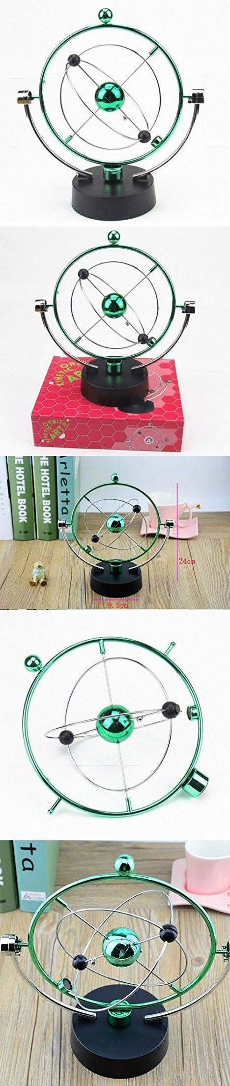 JCare Educational Science Toys Electric Wiggler Kinetic Milky Way Orbital Gadget Perpetual Motion Art Office Desk Home Decor Gizmos Kids Best Christmas New Year Gift