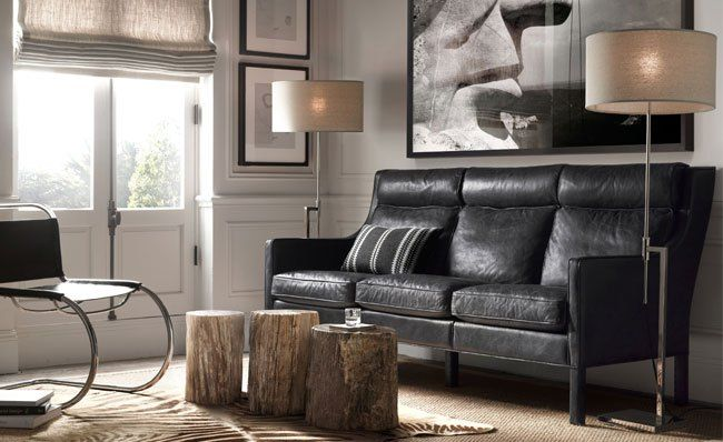 Top 25 Ideas About Black Leather Couches On Pinterest