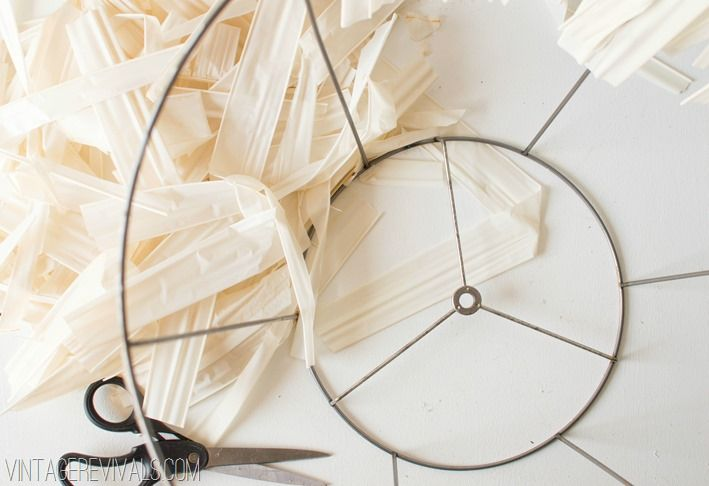 lampadario stoffa : How to make a Skeleton (wire) Lampshade DIY Inspiration Pinterest