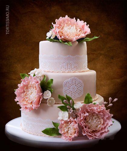 свадебные торты с пионами - Поиск в Google