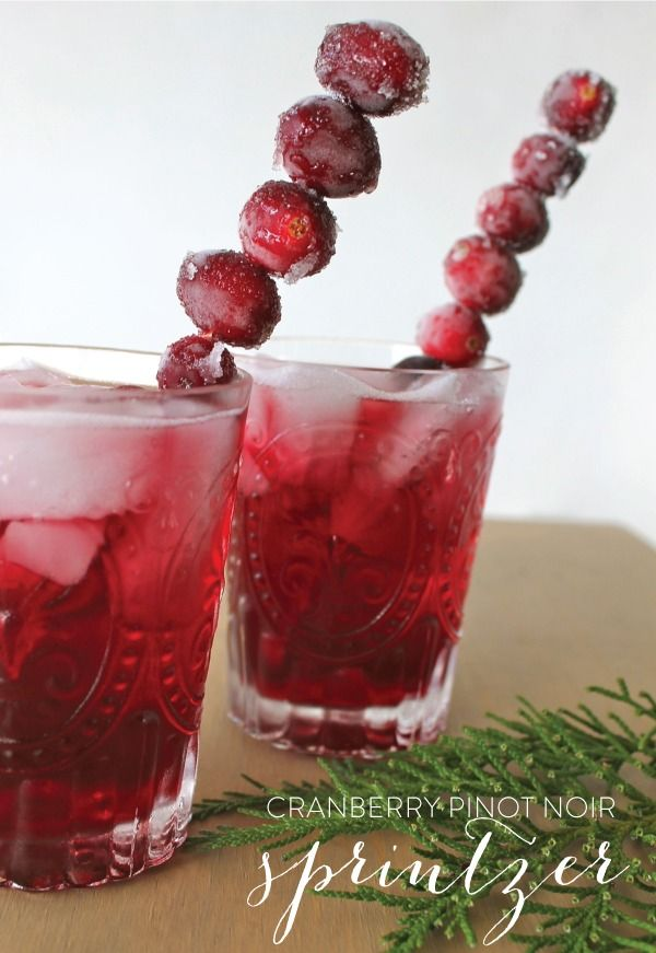 Holiday Wine Cocktail from ONEHOPE | Cranberries, Pinot Noir and ...