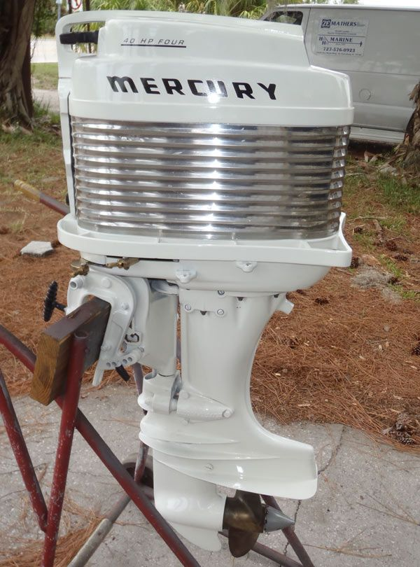 Antique 40 hp mercury outboard antique mark 35a 40hp for Mercury 2 5 hp outboard motor for sale