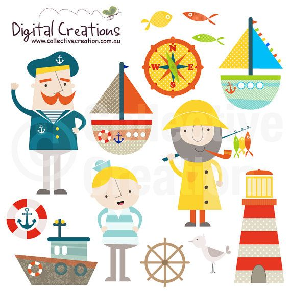 Nautical Set 2 Digital Clip Art  Personal by CollectiveCreation, $4.00