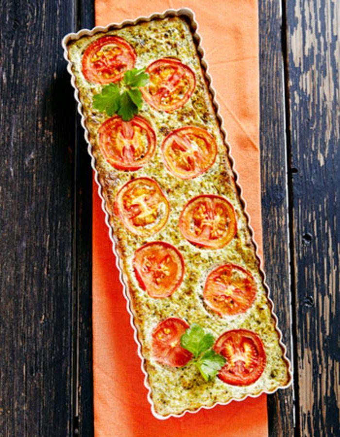 Apetit-reseptit - Pinaatti-tomaattipiiras