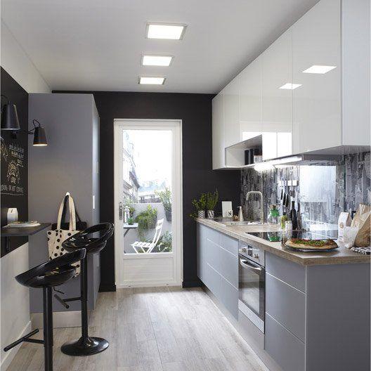 meuble de cuisine blanc delinia everest id e ha cuisine pinterest cuisine et ps. Black Bedroom Furniture Sets. Home Design Ideas