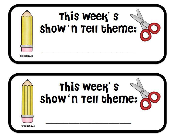 Teach123 - Tips for Teachers: Show 'n tell - day 1
