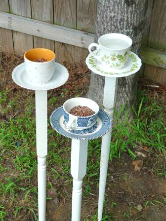 bird feeder-- maybe use my old tea cup collection i had as a kid