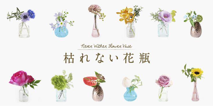 花どうらくのオリジナル商品「枯れない花瓶」