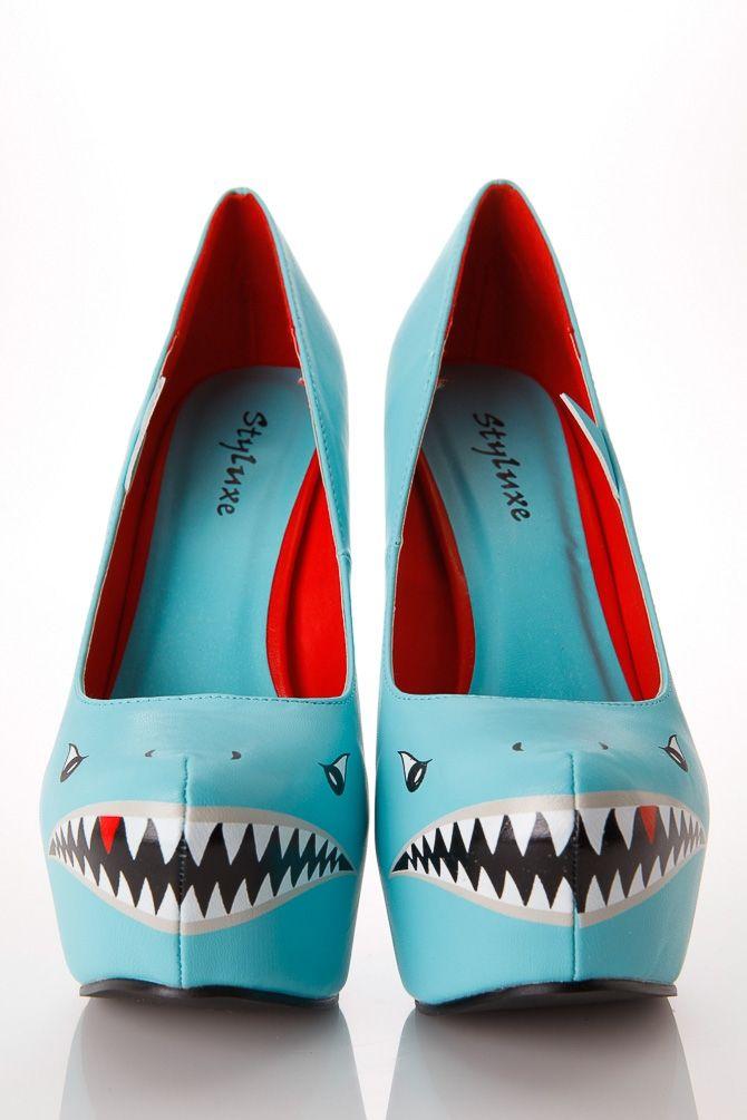 Styluxe Deadly Shark Pumps  Cicihot Heel Shoes Online -4057