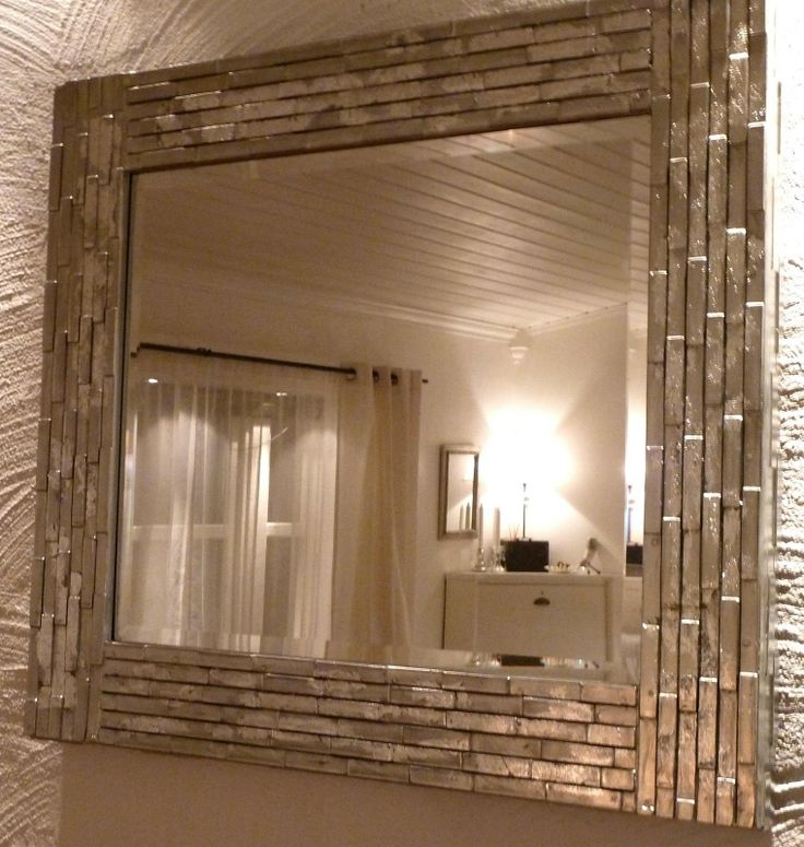 DIY Mirror - I like the silver finish!