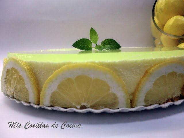 Tarta Mousse de limón con gelatina de gin tonic, Original mint - Mis Cosillas de Cocina