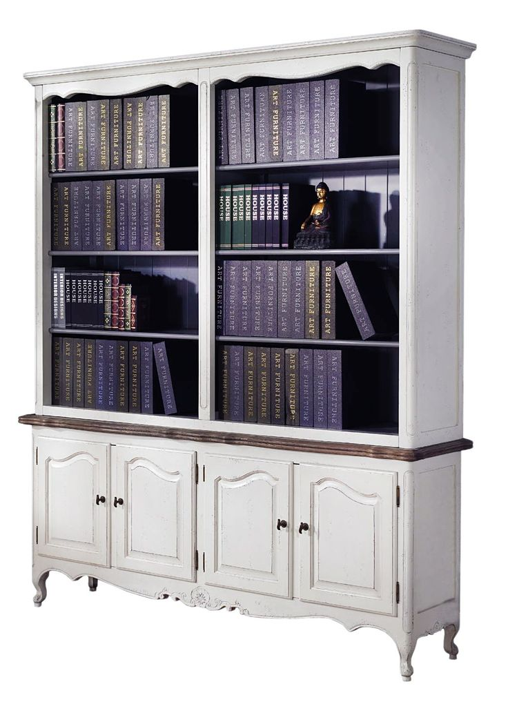 French Provincial Bookcase display Cabinet