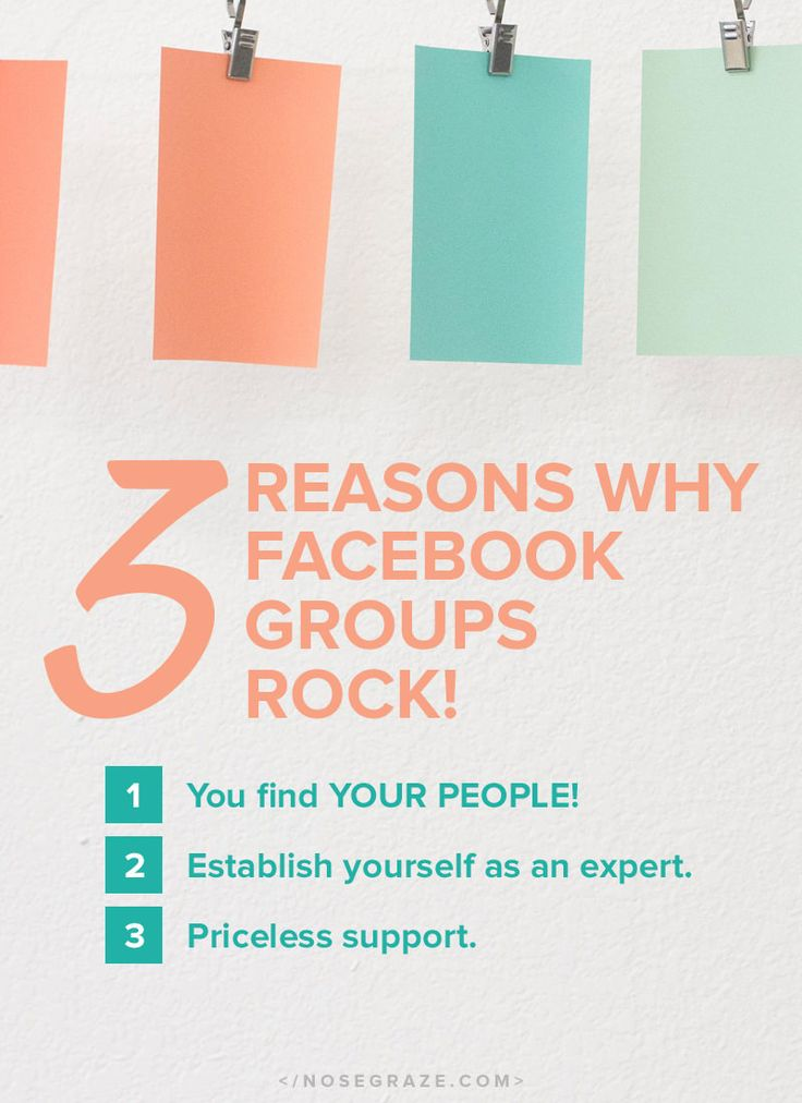 3 reasons why Facebook groups rock!