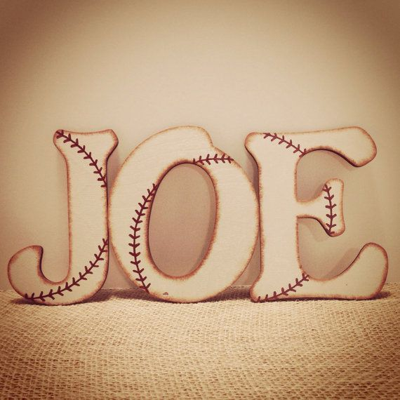 Hey, I found this really awesome Etsy listing at https://www.etsy.com/listing/161724452/best-seller-rustic-baseball-wall-letters