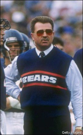 The classic; the epitome of NFL sweater...and it's a vest! Mike Ditka, 1985 Bears.