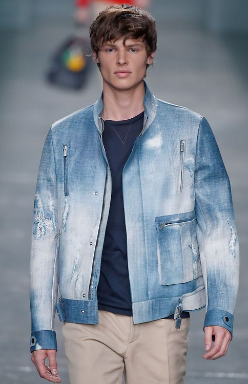 Fendi SS 2015 Collection:  high-end, partially ripped, washed out denim