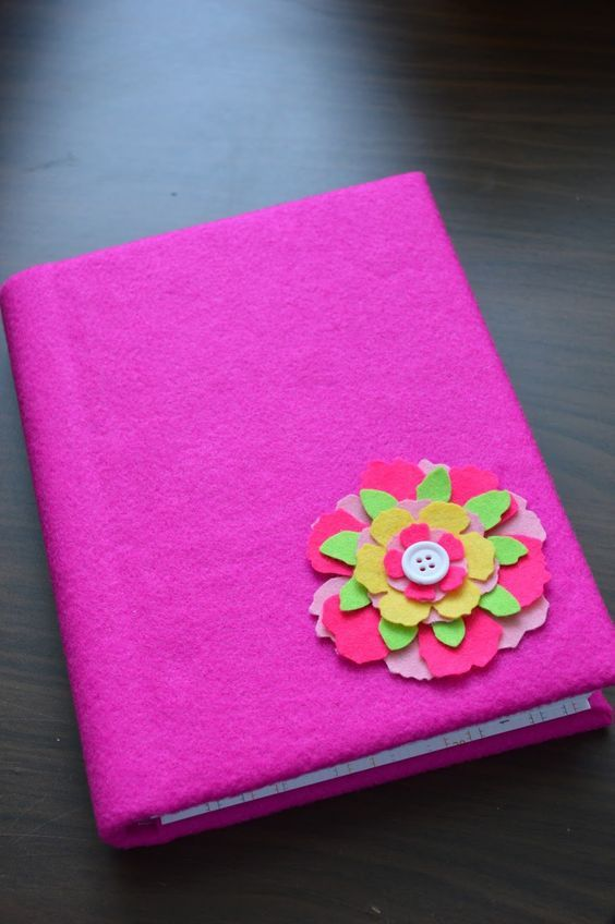 Get Crafty With Felt And Fabric To Decorate Notebook