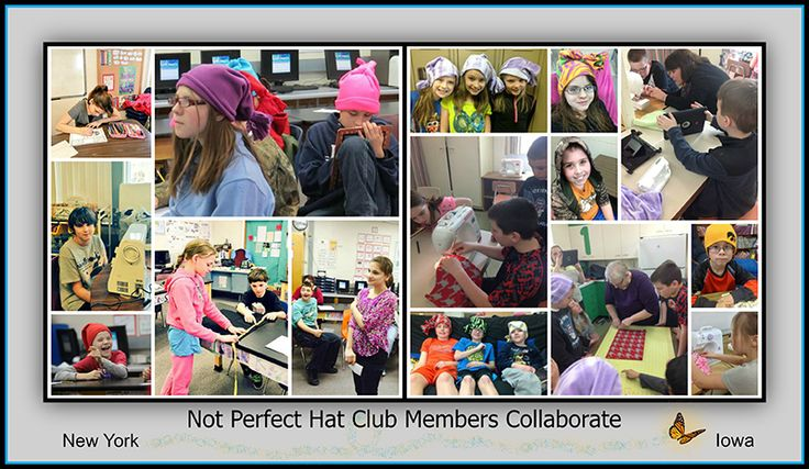 The Not Perfect Hat Club butterfly flies cross country!