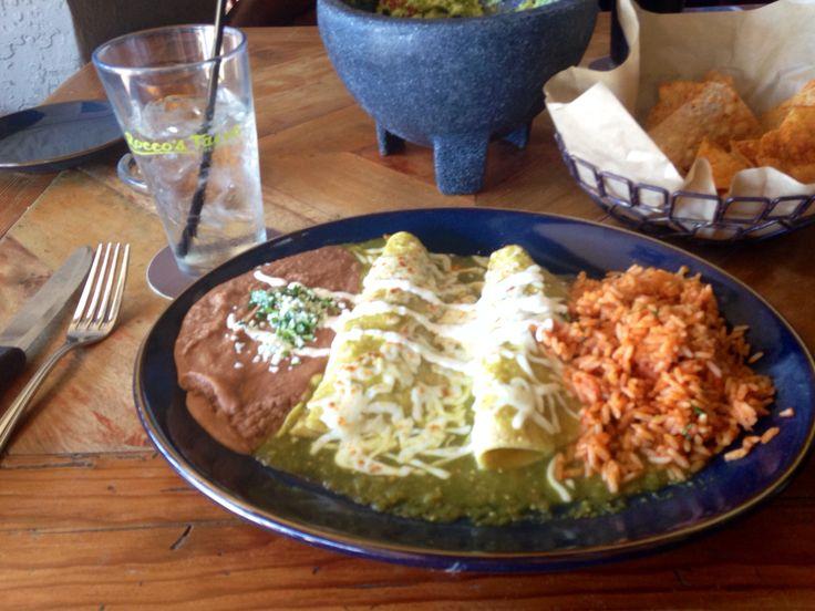 Enchiladas Verdes. Chicken enchilada in tomatillo sauce. | I'm a ...