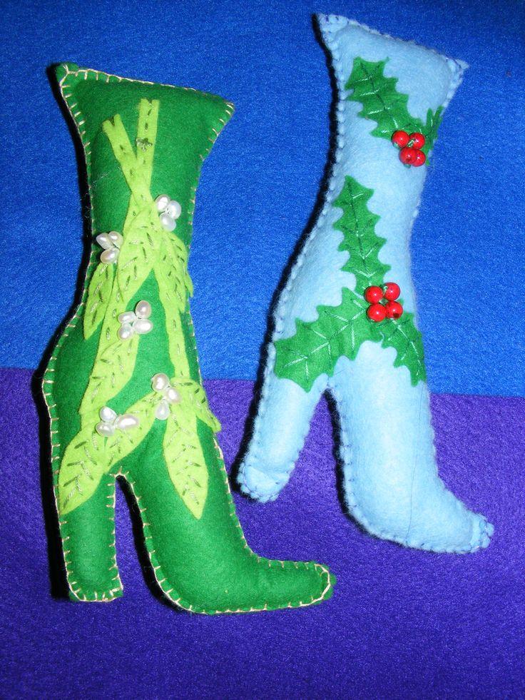 """Christmas Boots 5"""" Tall"""