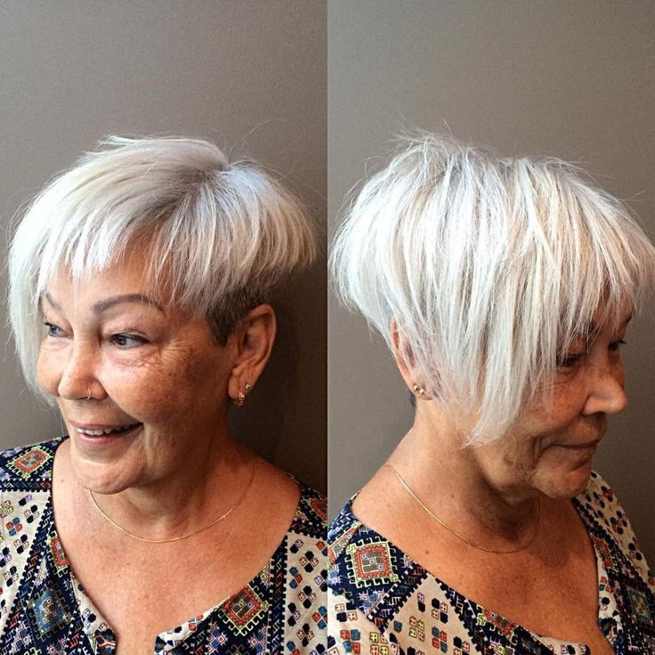 60 Gorgeous Gray Hair Styles Short Haircuts Pinterest