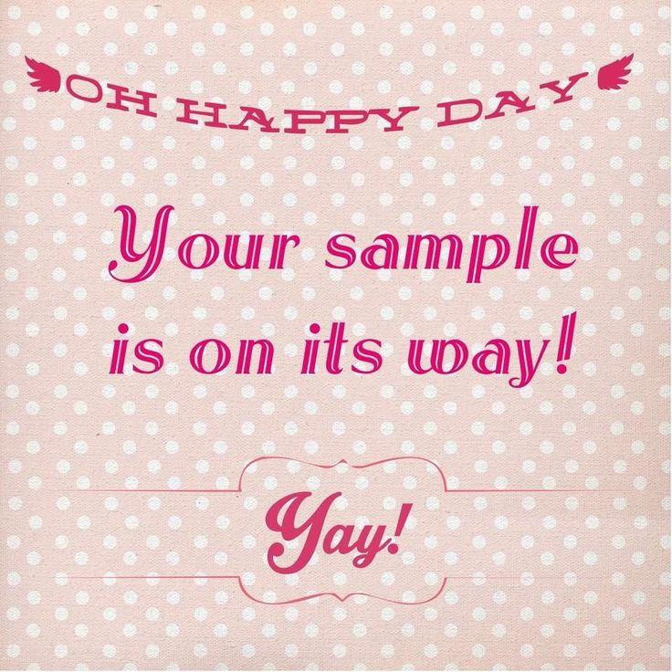 Request a sample and yours can be on the way too!! <3