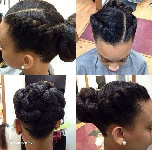 Twisted bun protective style. - Black Hair Information Community