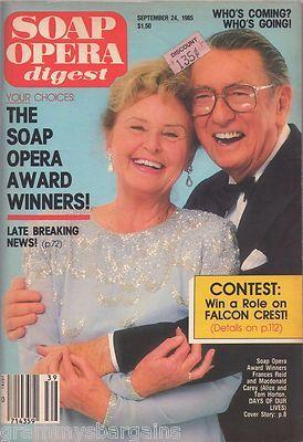 Soap Opera Digest Magazine September 24 1985 Candice Earley Lee Lawson | eBay