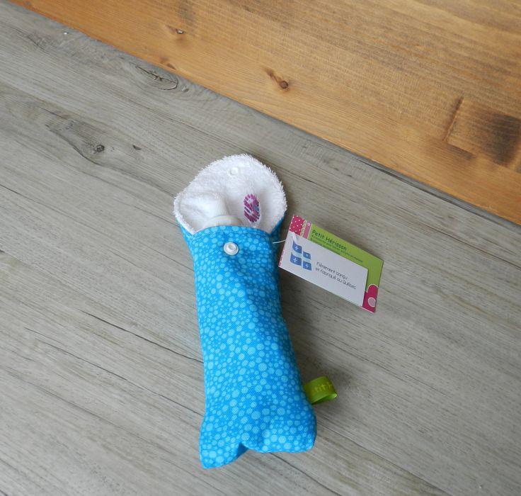 Petite pochette voyage pour brosse à dents et/ou dentifrice, pochette brosse à dent, pochette transport, pochette dentifrice, chevron, mauve de la boutique PetitHerissonM sur Etsy