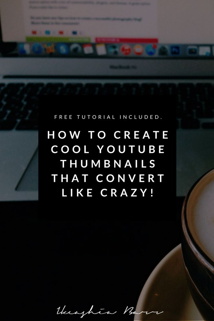 How to create youtube thumbnails that convert like crazy. In this blog post I will be helping you create a stunning unique youtube thumbnail that will convert to clicks a free step-by-step tutorial will also be included. Click the picture to read the full post >>>