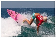 Bethany Hamilton refused to give up her dreams when most people would give up she made adjustments and kept moving toward her dream!