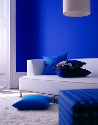 Blue Wall With Large White Baseboard Part 49