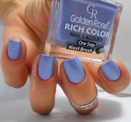 Golden Rose n°42 #nails #nailart #bluemani #Polish - bellashoot.com
