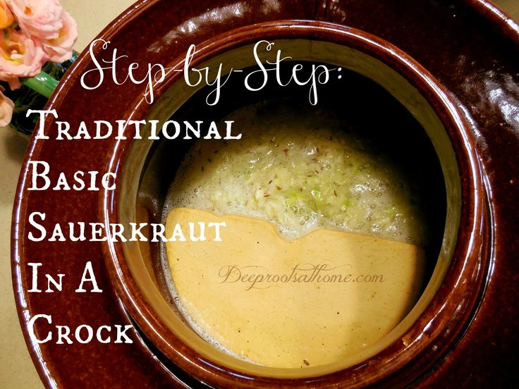 """When you make sauerkrauts you are in fact concocting a vessel full of enzymes, lactobacilli and an alkaline reactive food source… a powerhouse of nutrition for your stomach, intestines, organs and entire body.""  Step-by-Step: Traditional Basic Sauerkraut In A Crock 