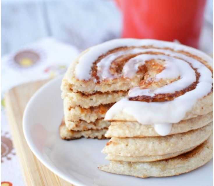 Scrumptious Cinnamon Roll Pancakes-Muskelaufbau Foods – Meine Rezeptzauber   – Breakfast