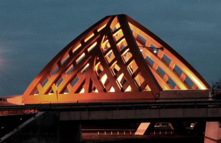 Heavy Traffic Road Bridges, the Netherlands | Accoya®. #accoya #wood