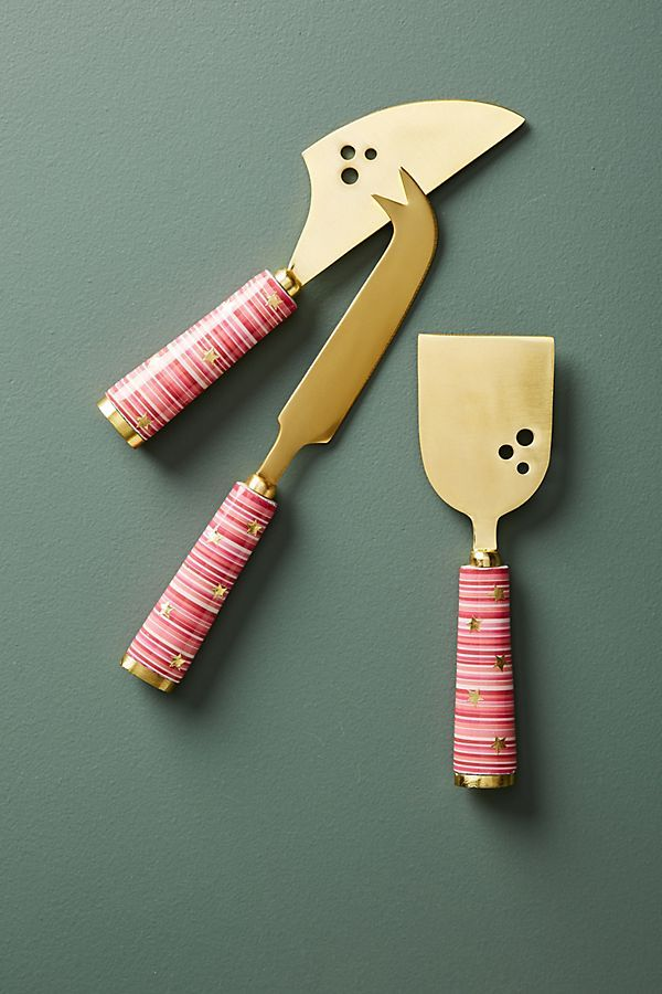 Slide View: 1: Alicia Cheese Knife Set