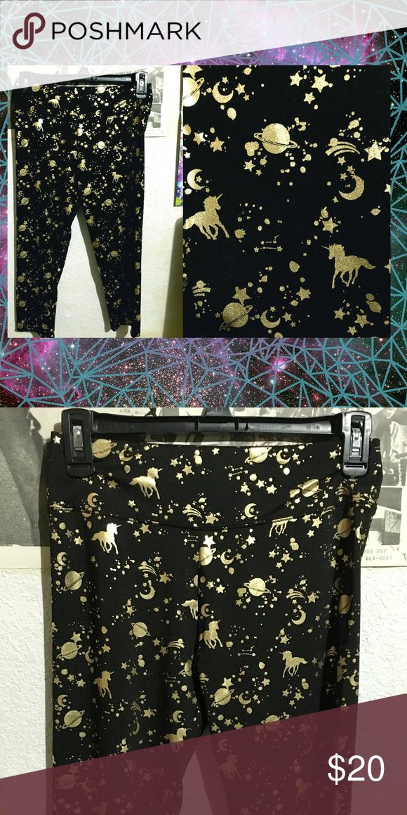 unicorn space leggings small,  no issues, no tags possibly kid's Pants Leggings
