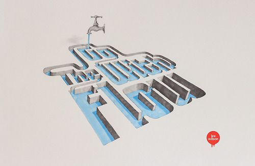 Let's Get Lost // 3D Typography