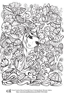 Adult Coloring Pages - Mermaid