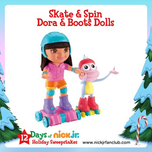 Holiday Gift Guide: Skate & Spin Dora and Boots dolls can even do a conga line!