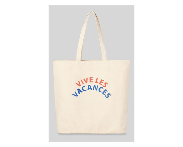 Vive Les Vacances Tote, in Neutral on Whistles