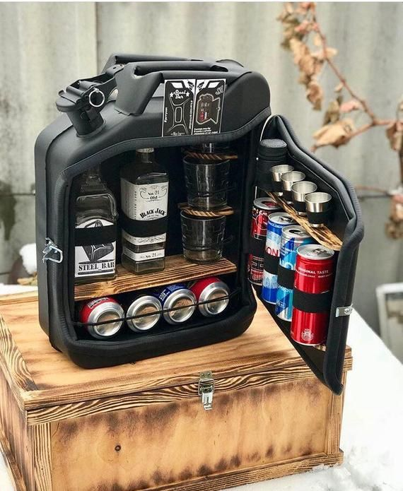mini bar jerry can camping picnic fuel canister NEW man cave handmade metal best men's gift