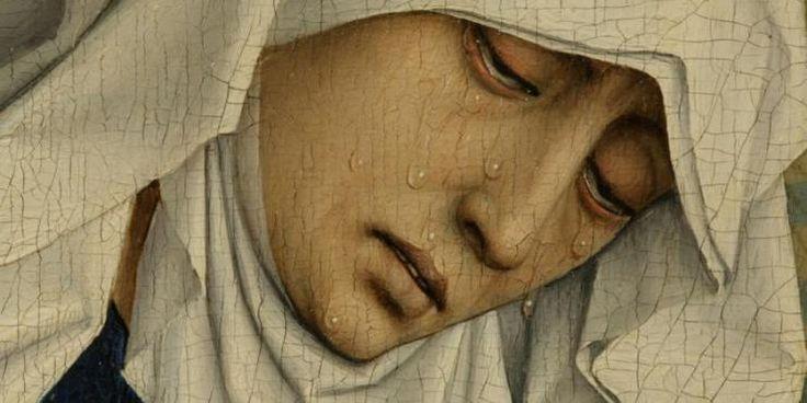 Detail from The Seven Sacraments — Rogier van der Weyden