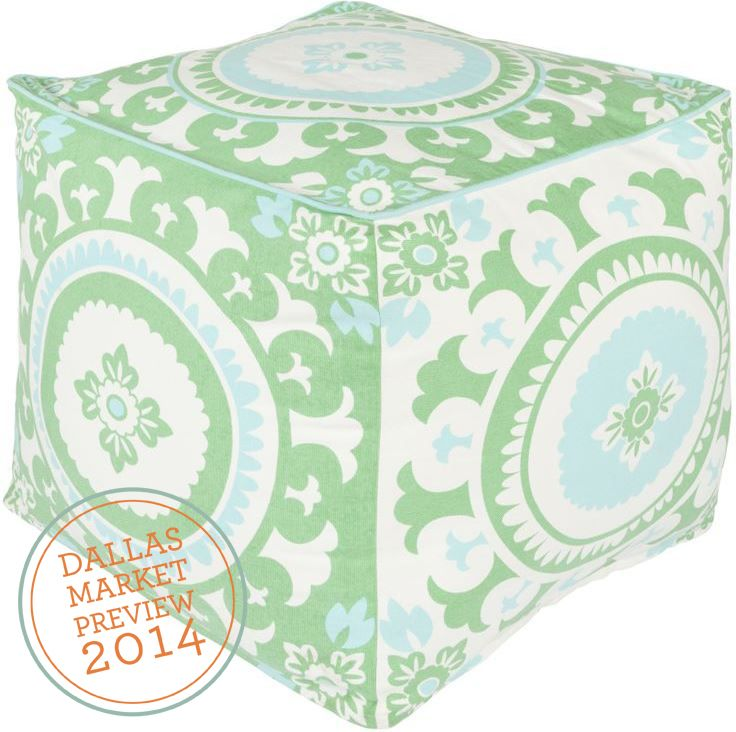 @Dallas Market Preview: Kate Spain Pouf At Surya, WTC 5 560 #