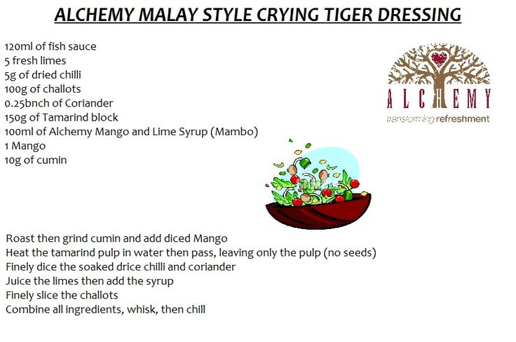 Malay style crying Tiger dressing