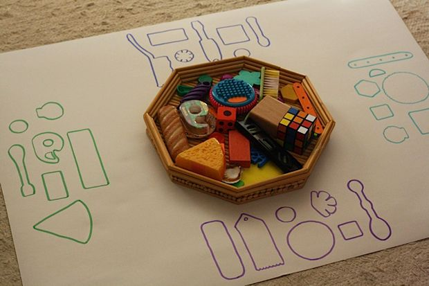 This shape puzzle activity is great for all ages. Our almost-two-year-old enjoyed it, and did a great job with her puzzle, and the preschoolers had a blast, making matches, trading places and cheering each other on.